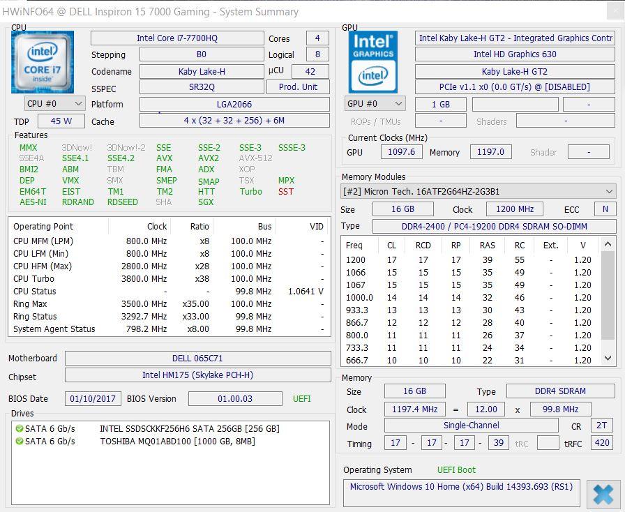 戴尔Inspiron 15 7000 7567 游戏笔记本电脑简短评测- Notebookcheck