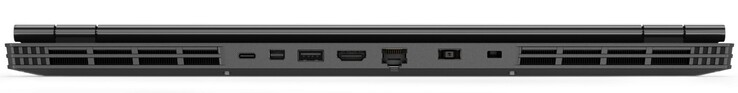 Rear: USB 3.1 Gen 1 Type-C, mini DisplayPort, USB 3.1 Gen 1 Type-A, HDMI, Gigabit LAN, power connector, Kensington lock slot