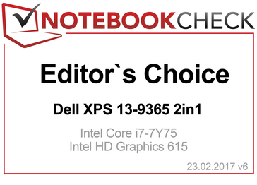 Editor's Choice Award in February 2017: XPS 13 9365 2-in-1