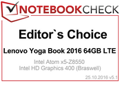 Editor's Choice in November 2016: Lenovo Yoga Book