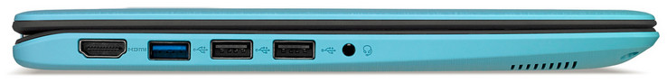 Left side: HDMI, USB 3.1 Gen 1 (Type A), 2x USB 2.0 (Type A), audio combo