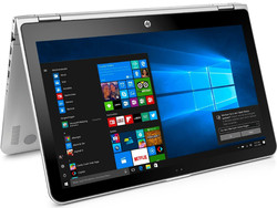 In review: HP Pavilion x360 15-bk102ng. Test model provided by Cyberport.de