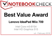 Best Value Award in February 2016: Lenovo IdeaPad Miix 700