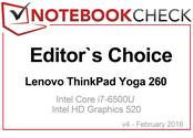 Editor's Choice in February 2016: Lenovo ThinkPad Yoga 260