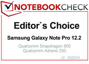 Editor's Choice in March 2014: 三星 Galaxy Note Pro 12.2 LTE