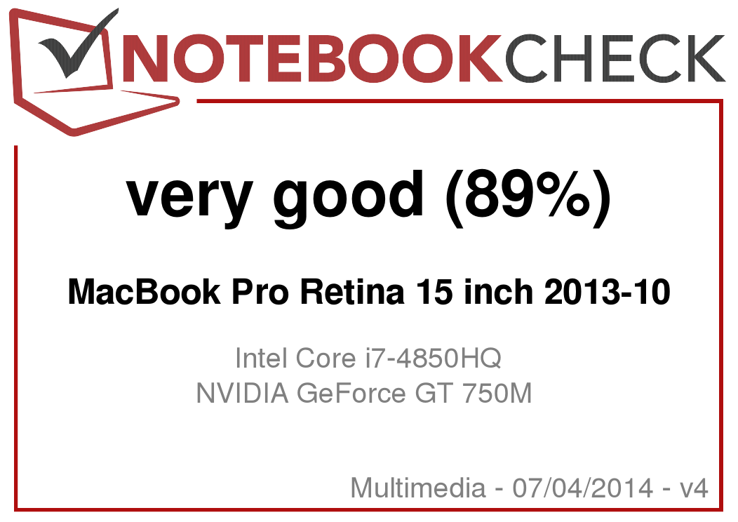 Apple MacBook Pro Retina 15 Late 2013 笔记本电脑简短评测